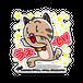 <アクリルバッチ 70×70>うえ~いみーちゃん