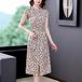 【dress】輝いて超人気 !高級感 スリットドット柄チュニック2色デートワンピース
