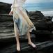 Watercolor pleated chiffon skirt 水彩 柄 プリーツ シフォン スカート
