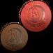 三日月インコ革コースター2枚セット(赤、茶)