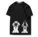 メンズ大きい男性サイズかわいい犬プリントTシャツ