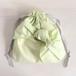 シャーベットカラー 結び目リボン巾着 グリーン