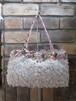 K374 立体花ブレードと薔薇の持ち手のバッグ
