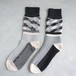 Reversible fringe socks A-S01 グレー