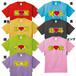 id-001 【メンバーカラーTシャツ】アイドルのコンサートに!好きな名前がオリジナルプリントできるTシャツ