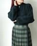 mock neck mohair black knit