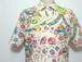1980's ITALY製 総柄リゾートシャツ 実寸(M位) イタリア
