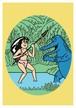 《JUN OSON イラストポストカード》CJ-11/ 女とワニ