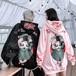 【トップス】日系レトロbf原宿風秋冬新歌姫プリント刺繍パーカー26778759
