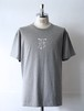 FUJITOSKATEBOARDING Print T-Shirt  Gray (Mark ver.)