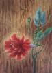 和田淑子作「錠」F4 アクリル彩色キャンバス画 額付/Art Selection【1点もの】【送料無料】