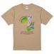ハシビロコウTシャツ(スシ・フルカラー)ライトベージュ ユニセックス