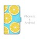 Android用 水の上のレモン 手帳型マルチスマホケース