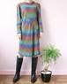 rainbow mohair knit dress