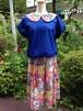 【ハニーチューン】ドレスとおしゃれブラウスの贅沢過ぎるプレミアム丸襟ツーピース。一点物
