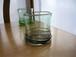 琉球ガラス 廃瓶から生まれた希少なグラス 透きらせん巻ロックグラス紫/コカ|琉球ガラスみんるー商店