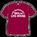 SKA FOR LIVEHOUSE   S/S Tシャツ【マルーン】