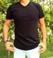 Keith / V neck T-shirts Black