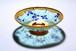 1点限り【杜若】カキツバタ ガラスの抹茶茶碗/父の日ギフト・誕生日プレゼント 桐箱入り