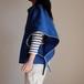 オーバーコート ショート コットン ナイロン ・ short!short!オーバーコート【  ロイヤルブルー ・ホワイトパイピング 】/short-length overcoat cotton nylon 【 piping of white to royal blue 】