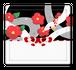 【スタンプパッド】椿とアオダイショウ