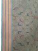 シピボ族の刺繍腰巻06 泥染めグレー アマゾンの刺繍大判