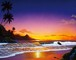 キモ作「ハワイを包む光」ジクレ(ミックスメディア)