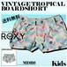 ERLBS03026 ロキシー 水着 ボードショーツ パンツ キッズ 女の子 可愛い レジャー 海 プール 人気ブランド VINTAGE TROPICAL BOARDSHORT ROXY