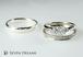 プラチナ婚約・結婚指輪エタニティー3点セットリング<S-1>