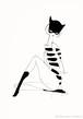 額装作品20 仮面猫 catmask