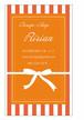 リボンプレゼント縦型名刺・ショップカード オレンジ RI-053