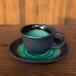 深海コーヒー碗と受皿
