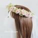 【プリザーブドフラワー】 ふんわりナチュラルなミニバラの花冠 * ウエディングの髪飾り