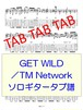 GET WILD/TM Network ソロギタータブ譜