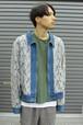 Denim × Lace Zip Up Jacket