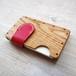 a card case  オーク×ピンク 無垢材と本革の名刺入れ | 木で作ったナチュラルでおしゃれな名刺入れ tackle wood design