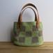 格子模様のバッグ(緑×カーキ)