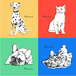 Rough touch illust pop art No.2/Portraits of Dogs, Cats and Pets