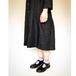 【受注生産】天然牛革 オイルレザーのTストラップ靴(レディース/黒)