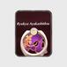 あやかし堂スマホリング・紫系ロゴあり・ゴールド