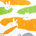 "tenugui (Japanese Towel) ""Rabbits in a carrot field"""