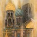 Painting「血の上の救世主教会( Church of the Savior on Blood)」ロシア正教会を描いた作品