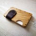 a card case  オーク×パープル 無垢材と本革の名刺入れ | 木で作ったナチュラルでおしゃれな名刺入れ tackle wood design