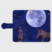月夜今城塚形象埴輪 黒革 Android S/M iphone