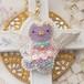 【11/2 21:00-】ビーズ刺繍のねこ天使 2wayバッグチャーム