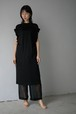 LOKITHO / GATHERED SLEEVE DRESS (black)
