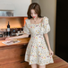 【dress】絶対欲しいスウィートチュニック刺繍清新デザインデートワンピース M-0255