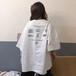 韓国風 カジュアル ラウンドネック ゆったり 着やせ 半袖 トップス Tシャツ