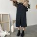 【送料無料】カットオフデニム ストリート スリット入りミモレ丈 タイト デニムスカート