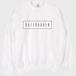 logo クルーネックスウェット [WHITE]
